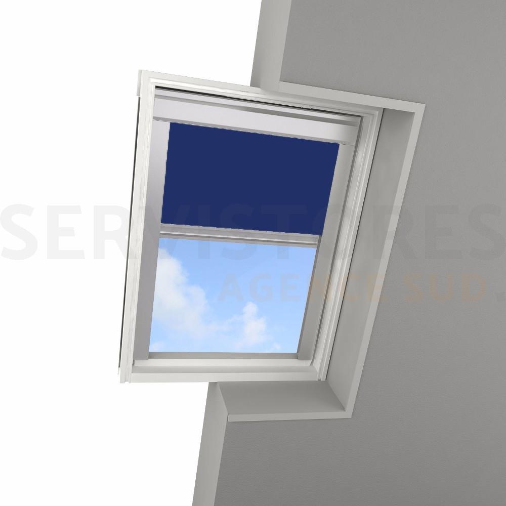 Tringle Pour Fenetre De Toit store occultant filtersun pour fenêtre de toit velux filvelux104bleu, réf -  servistores sud
