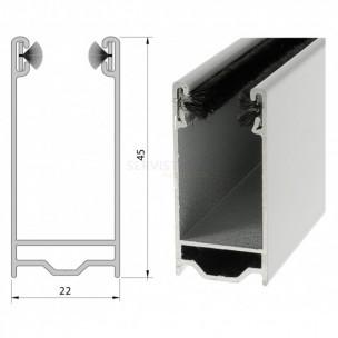 Coulisse aluminium de 45 x 22 mm pour volet roulant tradi rapide